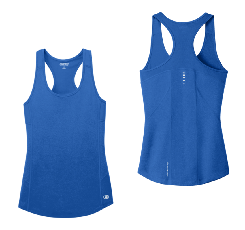 Women's Tank Top - Electric Blue - Blank Front & Back