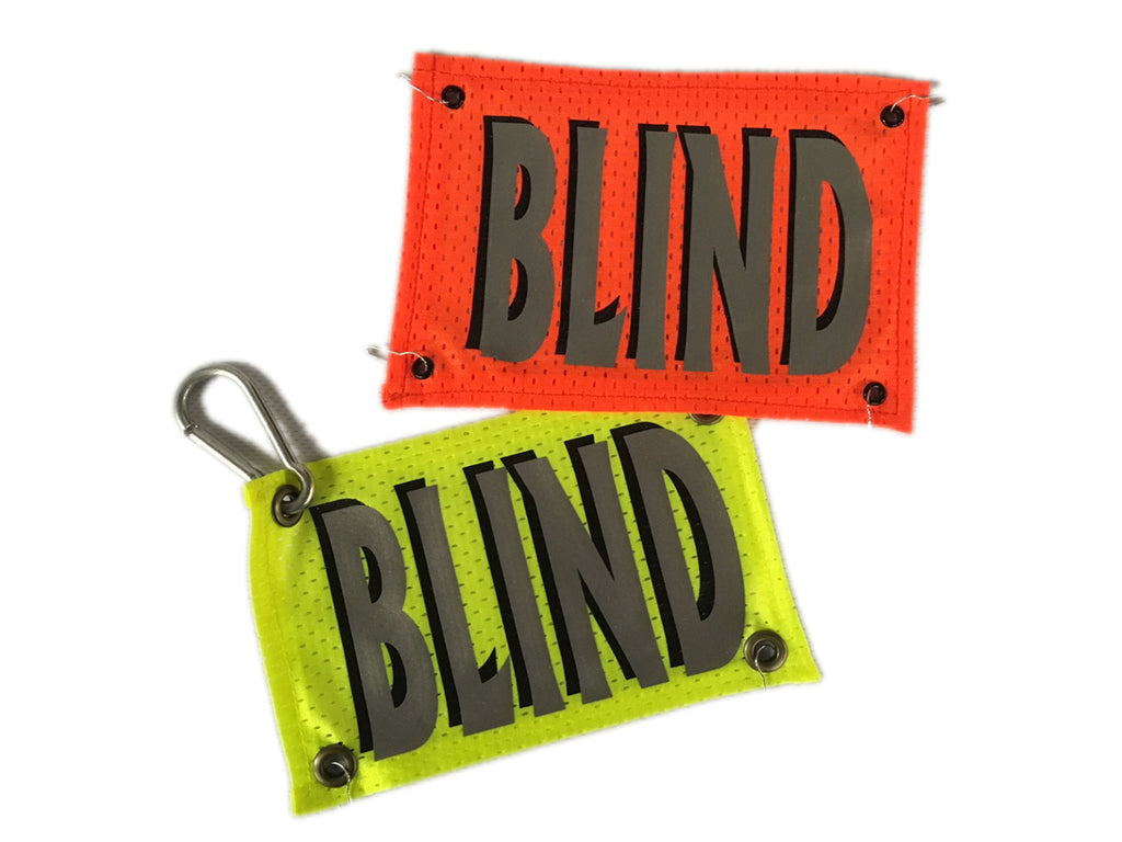 Reflective High Vis Reusable Bib - BLIND - Orange & Lime Yellow