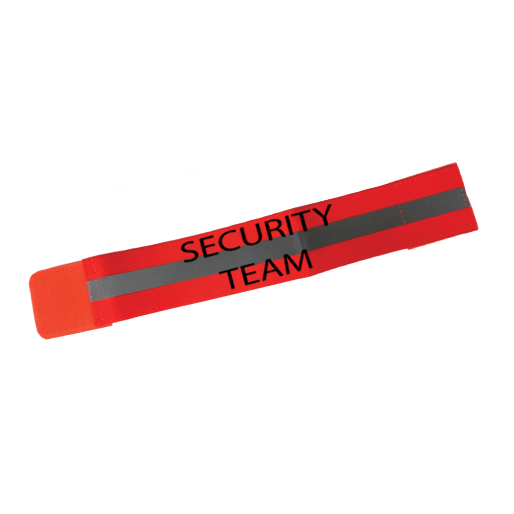 Reflective Arm Band - Security Team - Orange