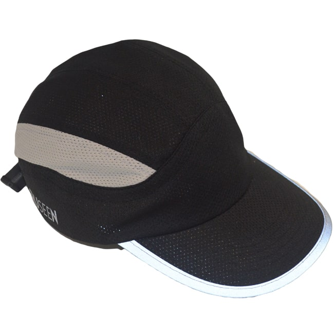 Reflective Hat - Black - Angled View