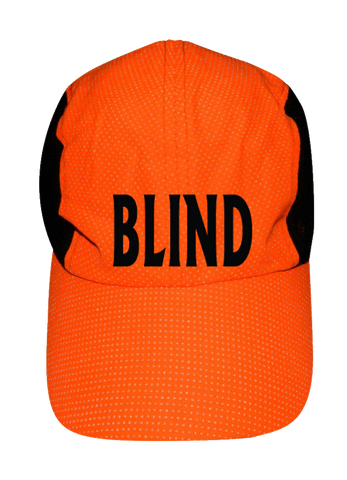 REFLECTIVE 4 PANEL HAT - BLIND - Front - Orange
