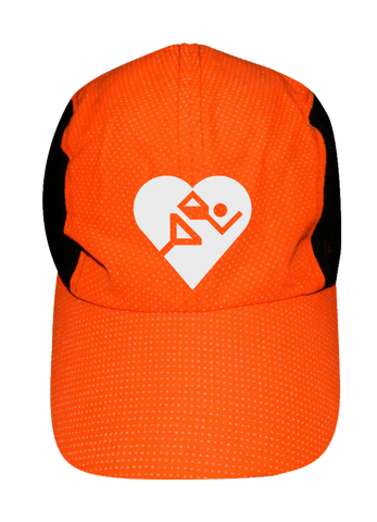 Reflective 4 Panel Hat - Cardiac Athletes .Org - Front View - White Logo