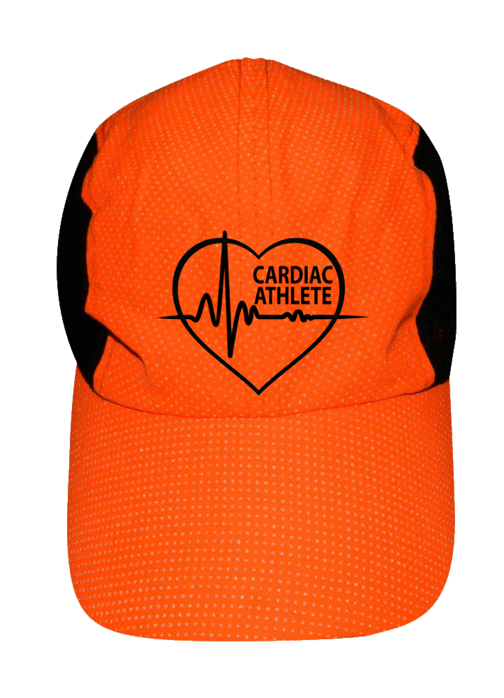 REFLECTIVE 4 PANEL HAT - CARDIAC ATHLETE - Front - Orange