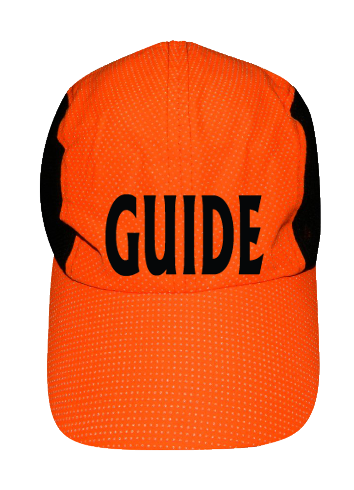 REFLECTIVE 4 PANEL HAT - GUIDE - Front - Orange