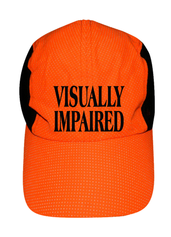 REFLECTIVE 4 PANEL HAT - VISUALLY IMPAIRED - Front - Orange