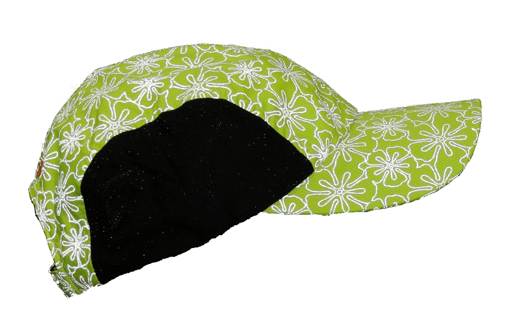 Reflective Hat - Lime Yellow Floral - Side