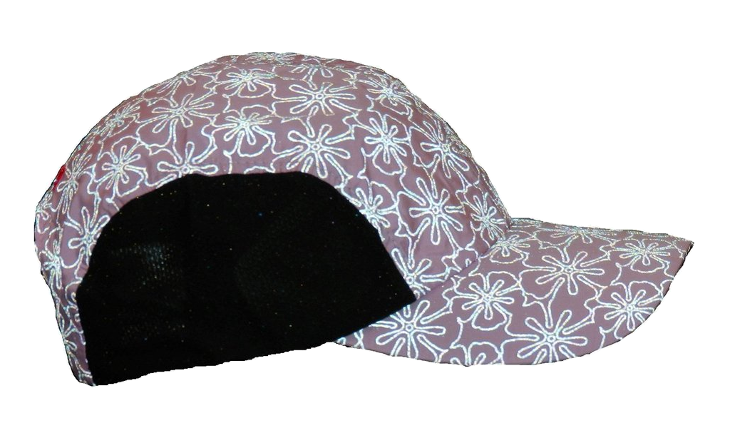 Reflective Hat - Light Pink Floral - Side