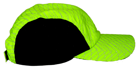 Reflective Hat - Stripe - Lime Yellow - Side