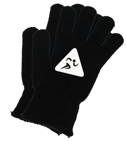 UNISEX REFLECTIVE KNIT GLOVES – RUNNERS - Black