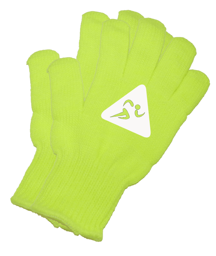 UNISEX REFLECTIVE KNIT GLOVES – RUNNERS - Lime Yellow