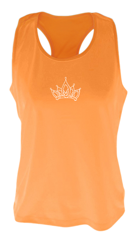 WOMEN'S REFLECTIVE TANK TOP SHIRT –  SPARKLE - Front - Orange