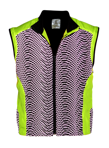 Reflective Running Vest - Tech Vest - Lime Yellow - Front
