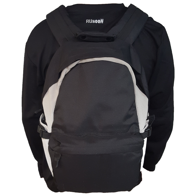 Reflective Backpack - Black & Gray