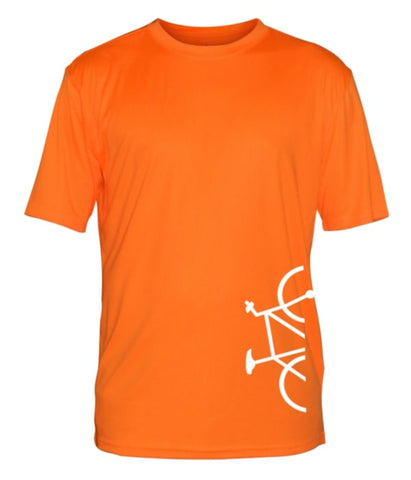 Men's Reflective Short Sleeve Shirt - Broken Bike - Orange