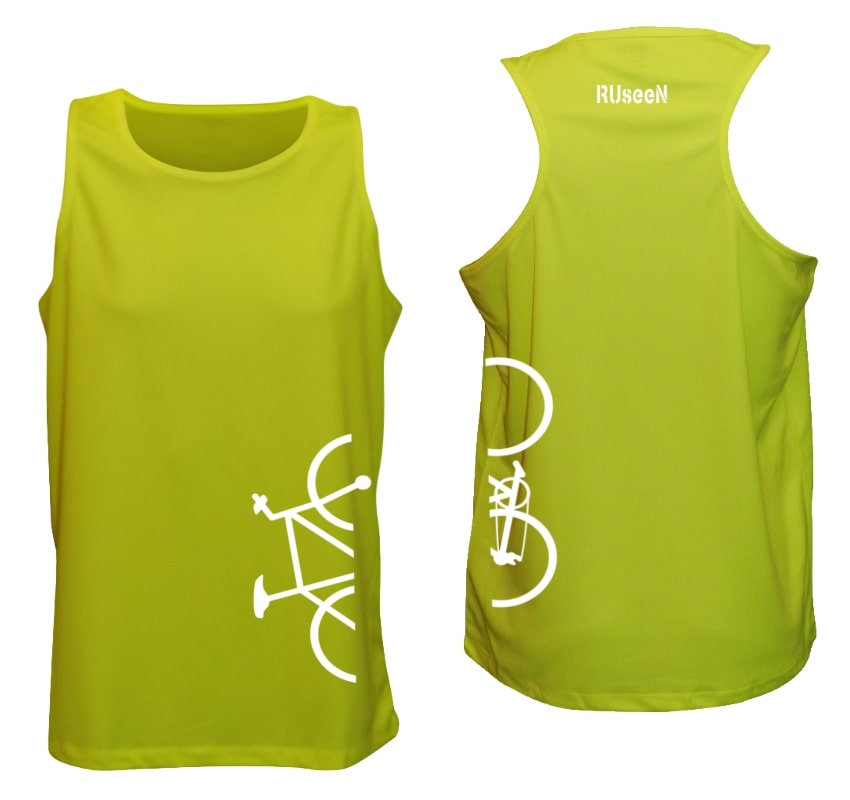 Men's Tank Top - Broken Bike - Lime Yellow