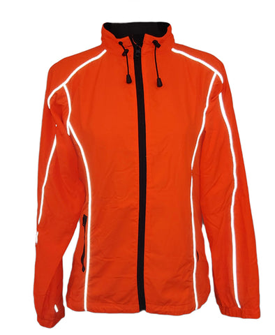 Women's Orange Windbreaker - Front