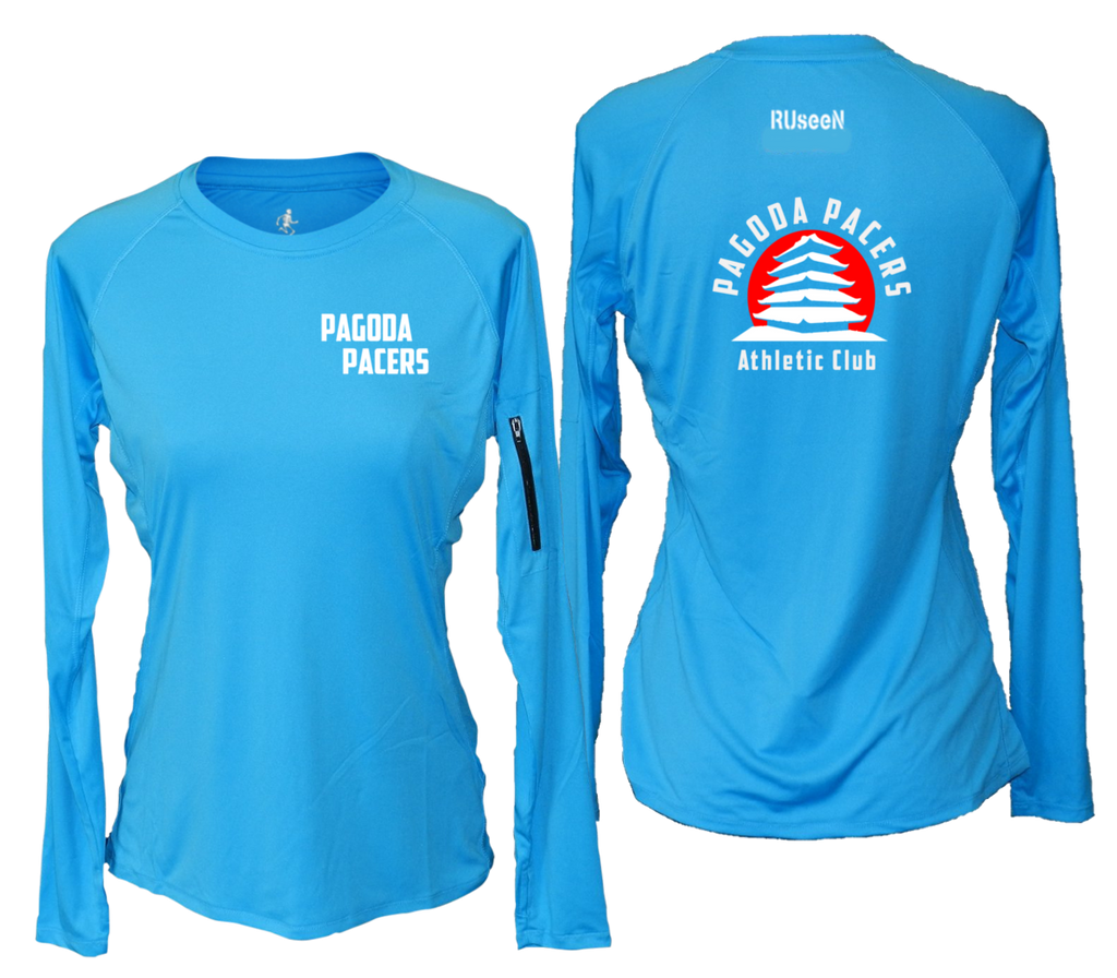 Women's Reflective Long Sleeve Shirt – Reading Pagoda Pacers