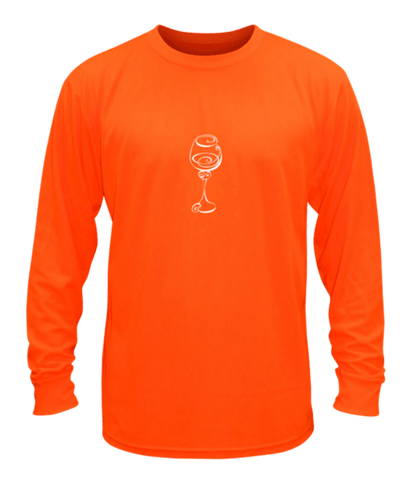 Unisex Reflective Long Sleeve Shirt - Better Be Wine - Front - Orange