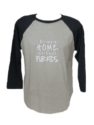 Unisex Reflective 3/4 Sleeve - Fur Kids - Front - White and Navy