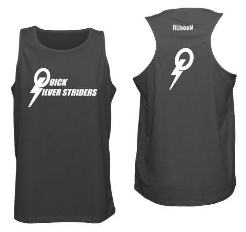 Men's Reflective Tank Top - Special Edition Quicksilver Striders - Front & Back - Black