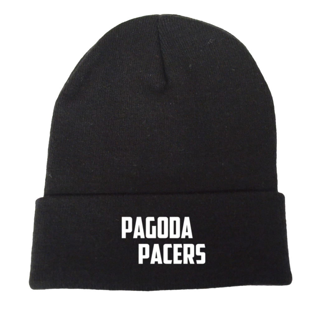 Reflective Knit Beanie - Pagoda Pacers - Black