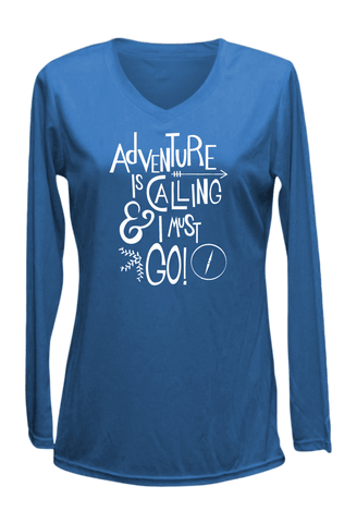 Women's Reflective Long Sleeve Shirt - Adventure - Front - Electric Blue