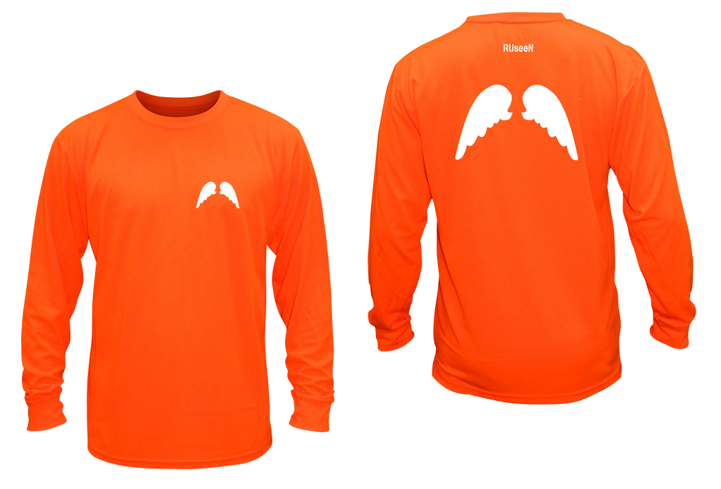 Unisex Reflective Long Sleeve - Wings - Orange