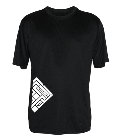 Men's Reflective Short Sleeve Shirt - Labyrinth - Front - Black