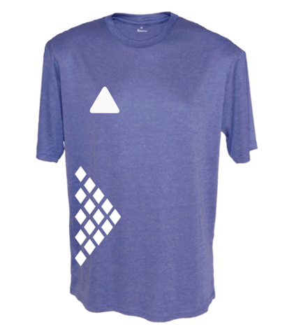 Men's Reflective Short Sleeve Shirt - Diamond Pattern - Front - Royal Heather