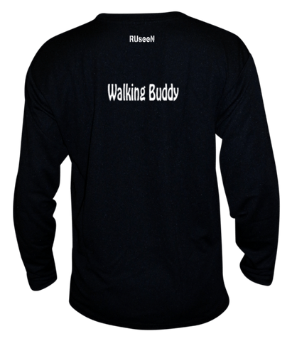 Unisex Reflective Long Sleeve - Walking Buddy - Back - Black