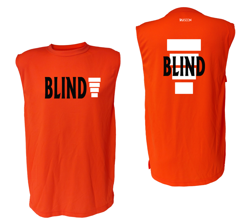 UNISEX SLEEVELESS REFLECTIVE SHIRT - ORANGE - BLIND