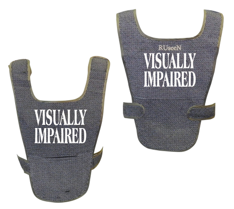 Reflective Running Vest - Visually Impaired - Front & Back - Black