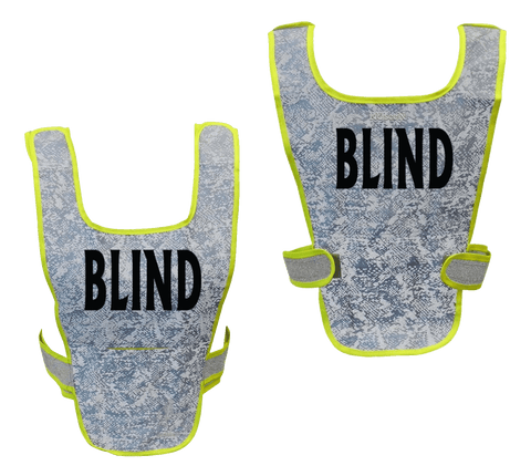 Reflective Running Vest - Blind - Front & Back - Light Blue