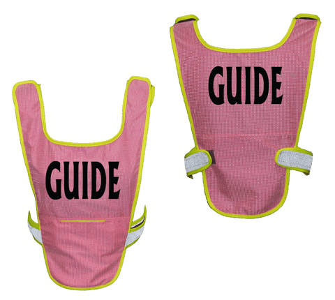 Reflective Running Vest - Guide - Front & Back - Neon Pink