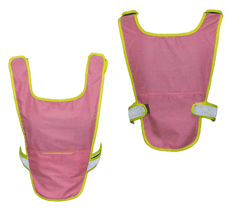 Reflective Running Vest - Front & Back - Neon Pink