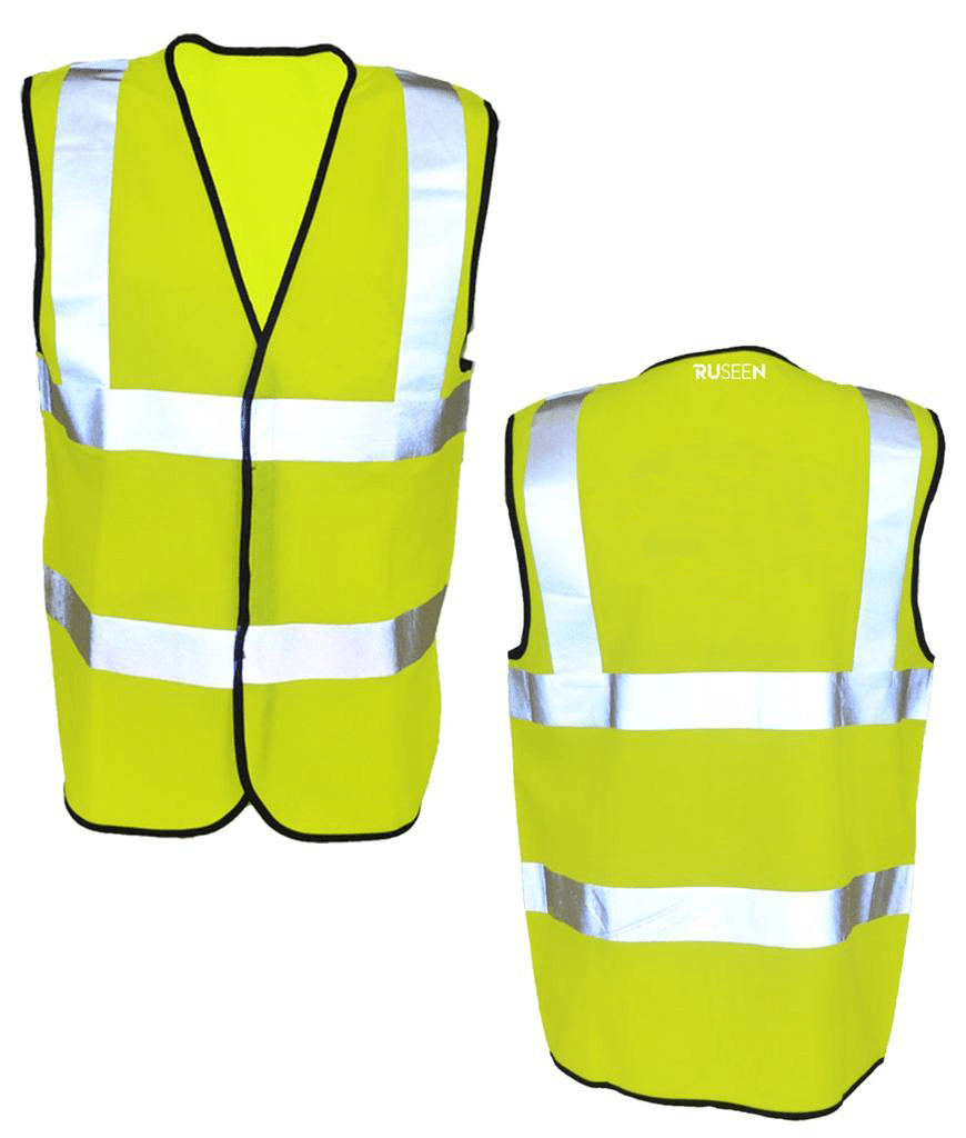 Reflective ANSI Class 2 Vest - Front & Back - Safety Yellow