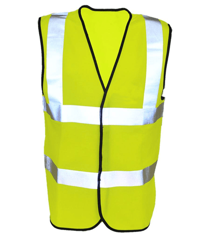 Reflective ANSI Class 2 Vest - Front - Safety Yellow