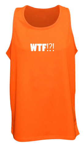 Men's Reflective Tank - Where's the Finish? - Front - Orange