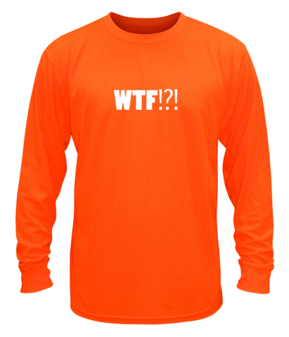 Unisex Reflective Long Sleeve - Where's the Finish? - Front - Orange