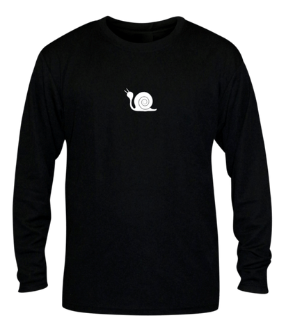 Unisex Reflective Long Sleeve - Didn't Train - Front - Black