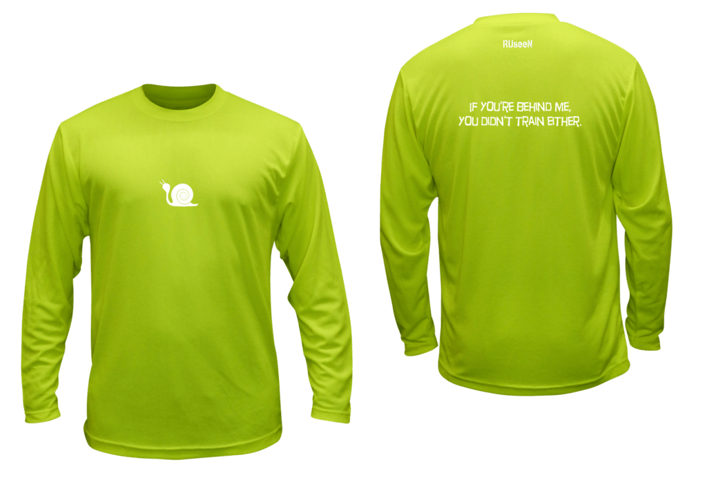 Unisex Reflective Long Sleeve - Didn't Train- Front & Back - Lime Yellow