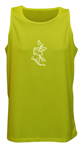 Men's Reflective Tank - 2 Speeds Rabbit - Front - Lime Yellow