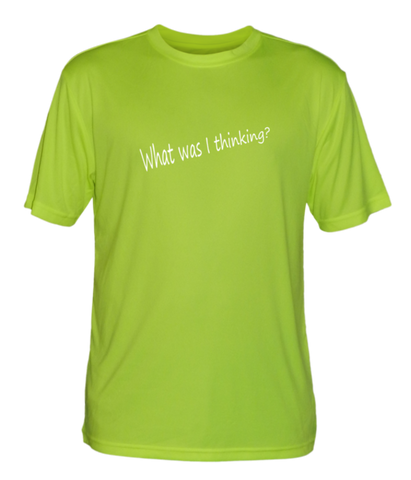 Men's Reflective Short Sleeve Shirt - Good Idea - Front - Lime Yellow