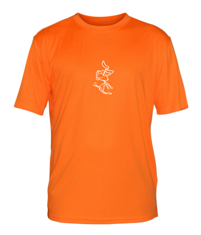 Men's Reflective Short Sleeve Shirt - 2 Speeds Rabbit - Front - Orange