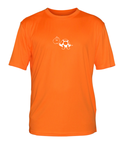 Men's Reflective Short Sleeve Shirt - I'm Not Last - Front - Orange