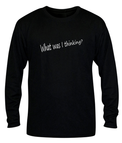 Unisex Reflective Long Sleeve Shirt - Good Idea - Front - Black