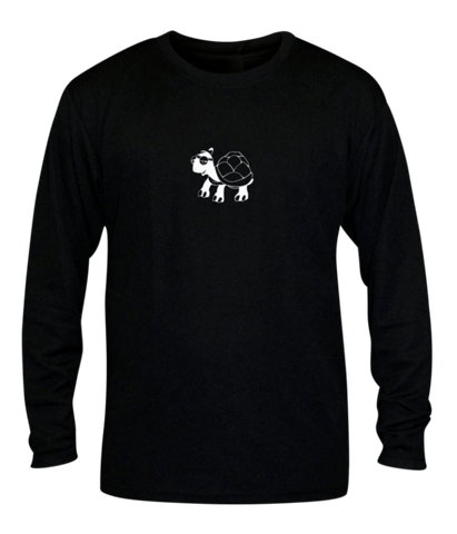 Unisex Reflective Long Sleeve - Looks Like Walking - Front - Black