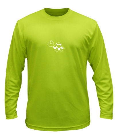 Unisex Reflective Long Sleeve - I'm Not Last - Front - Lime Yellow