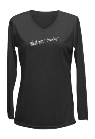 Women's Reflective Long Sleeve Shirt - Good Idea - Front - Black