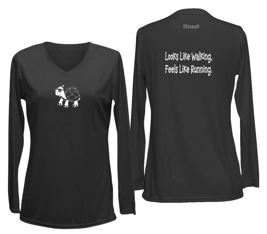Image Result For Design Size On Front And Back Of Shirts: Women's Reflective Long Sleeve Shirt
